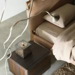 Letti in pelle e tessuto prodotti da Falegnameria 1946
